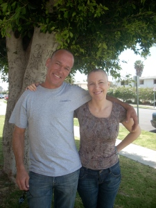 Me & my brother Steve after we both shaved our heads, sometime after my second chemo round