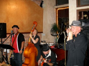 Playing with my blues group at Bistro 400
