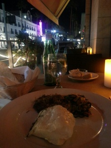 Dinner in Santa Monica . . .