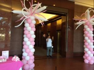 balloons pink komen